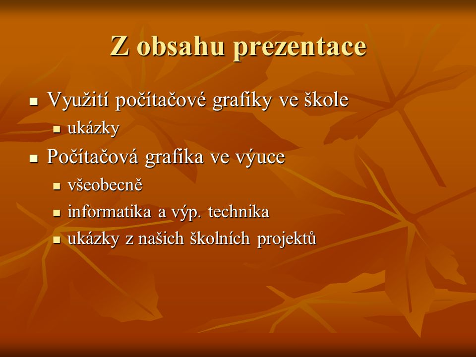 Zasedací pořádek netradičně  7.