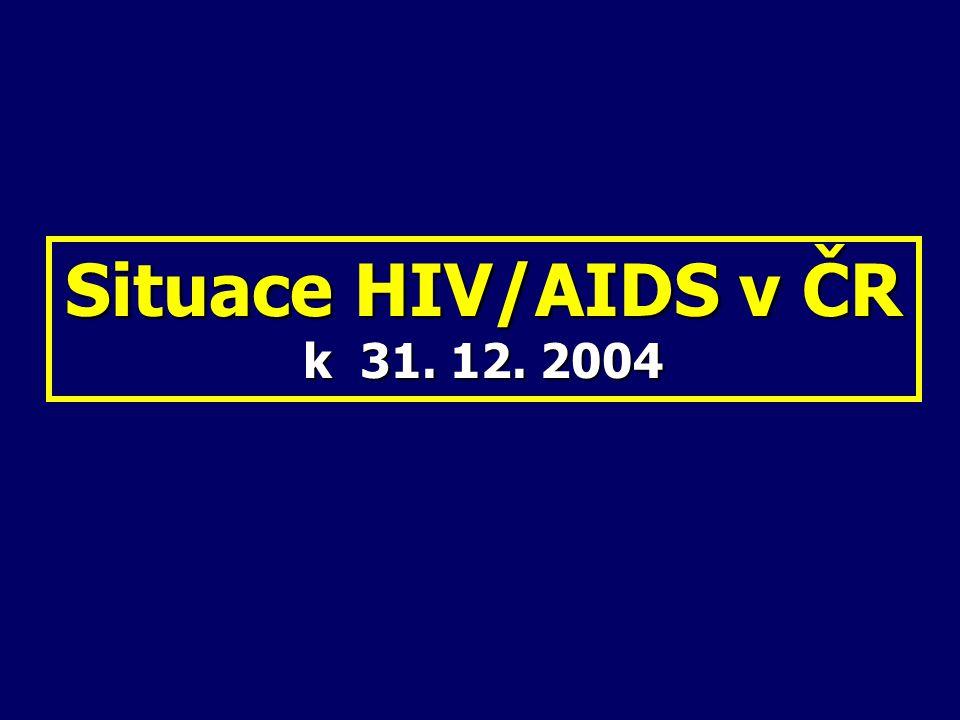 Situace HIV/AIDS v ČR k 31. 12. 2004