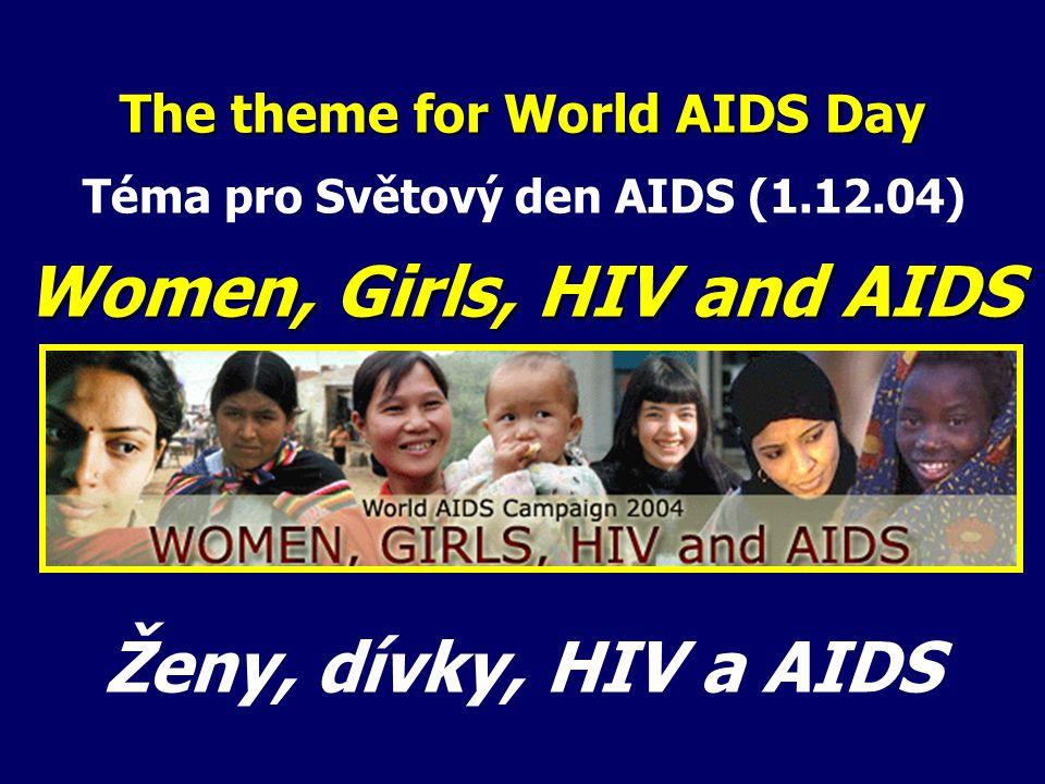 The theme for World AIDS Day Téma pro Světový den AIDS (1.12.04) Women, Girls, HIV and AIDS Ženy, dívky, HIV a AIDS