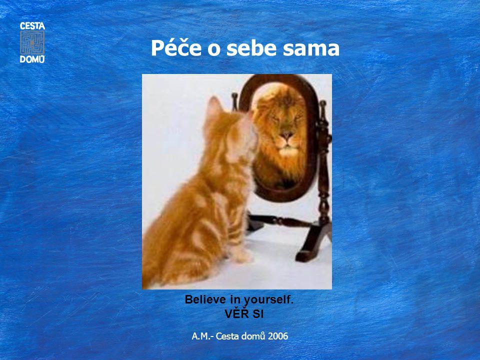 A.M.- Cesta domů 2006 Péče o sebe sama Believe in yourself. VĚŘ SI