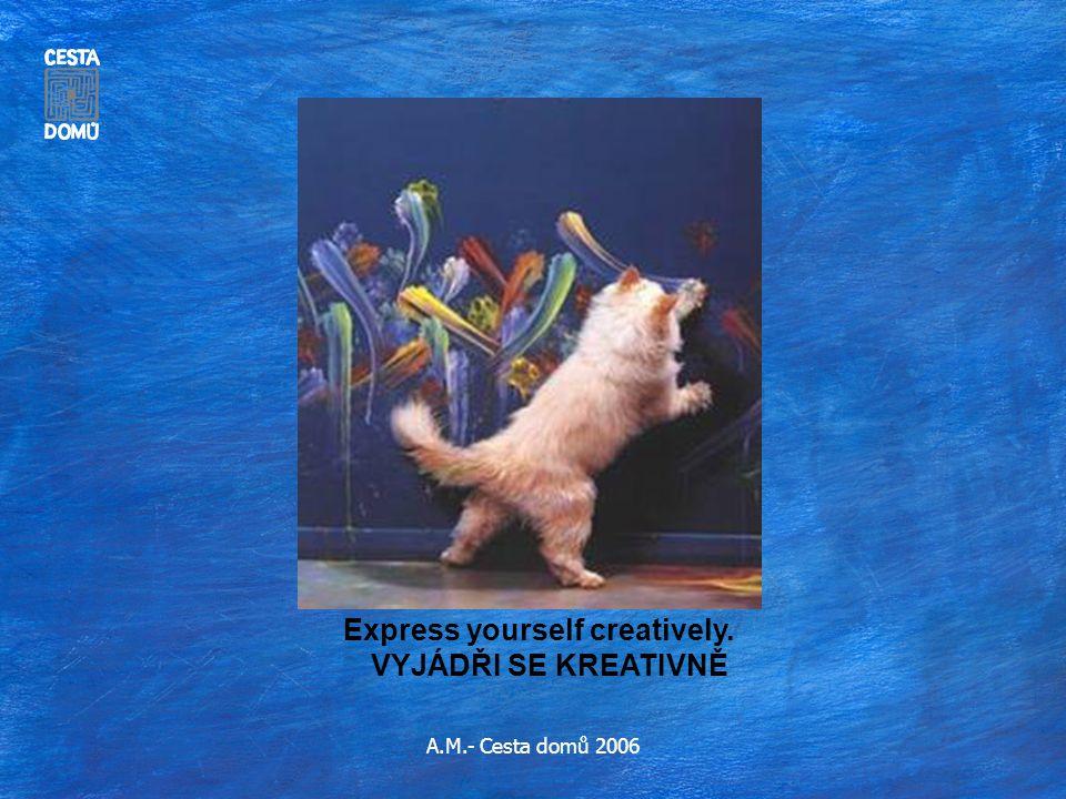 A.M.- Cesta domů 2006 Express yourself creatively. VYJÁDŘI SE KREATIVNĚ