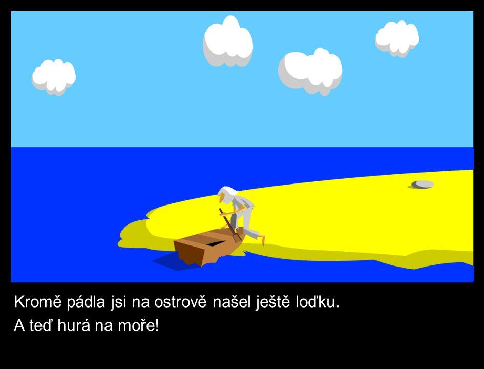 Kromě pádla jsi na ostrově našel ještě loďku. A teď hurá na moře!