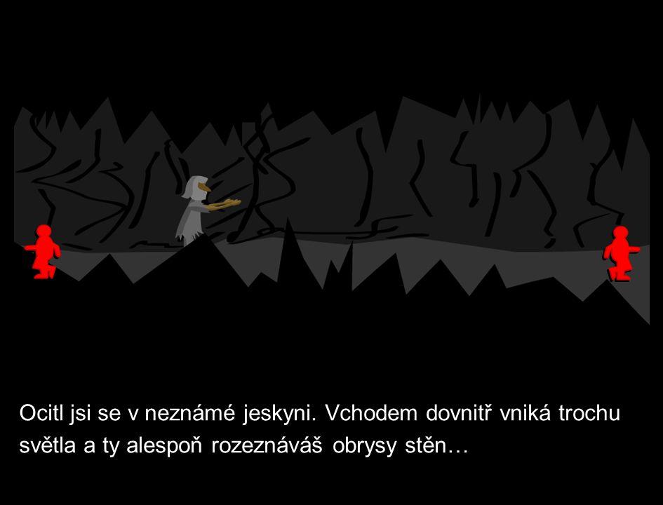 Ocitl jsi se v neznámé jeskyni.