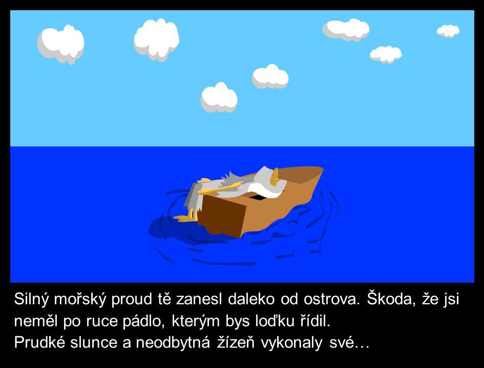 Loďka se potopila.