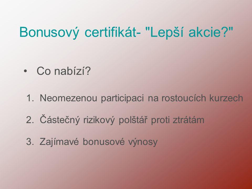 Bonusový certifikát-