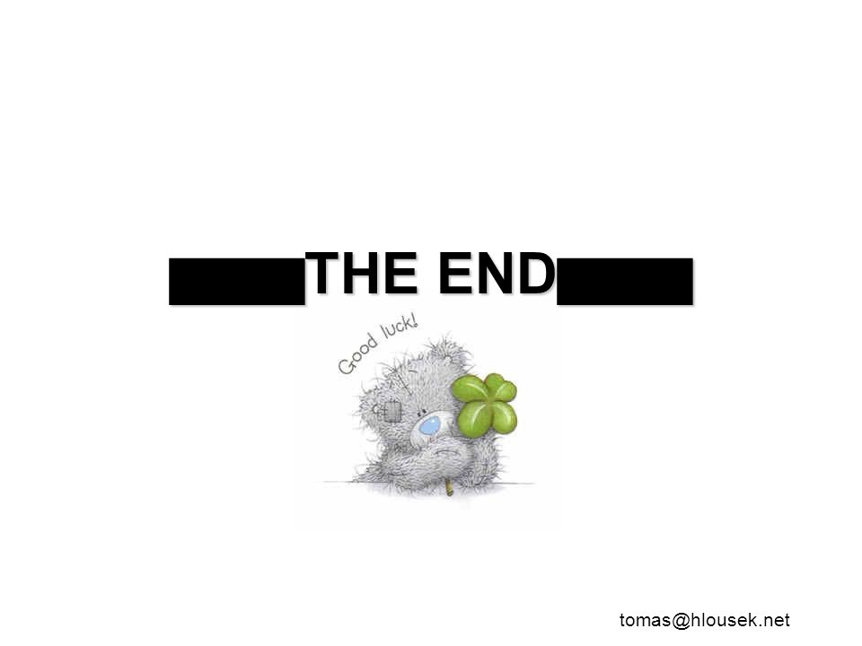█████ THE END █████ tomas@hlousek.net