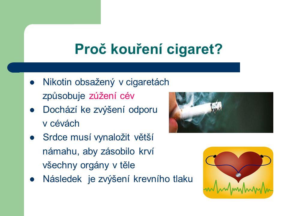 Proč kouření cigaret.