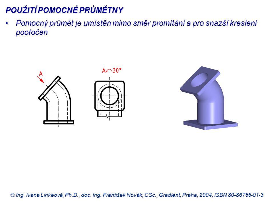 © Ing. Ivana Linkeová, Ph.D., doc. Ing. František Novák, CSc., Gradient, Praha, 2004, ISBN 80-86786-01-3 POUŽITÍ POMOCNÉ PRŮMĚTNY •Pomocný průmět je u