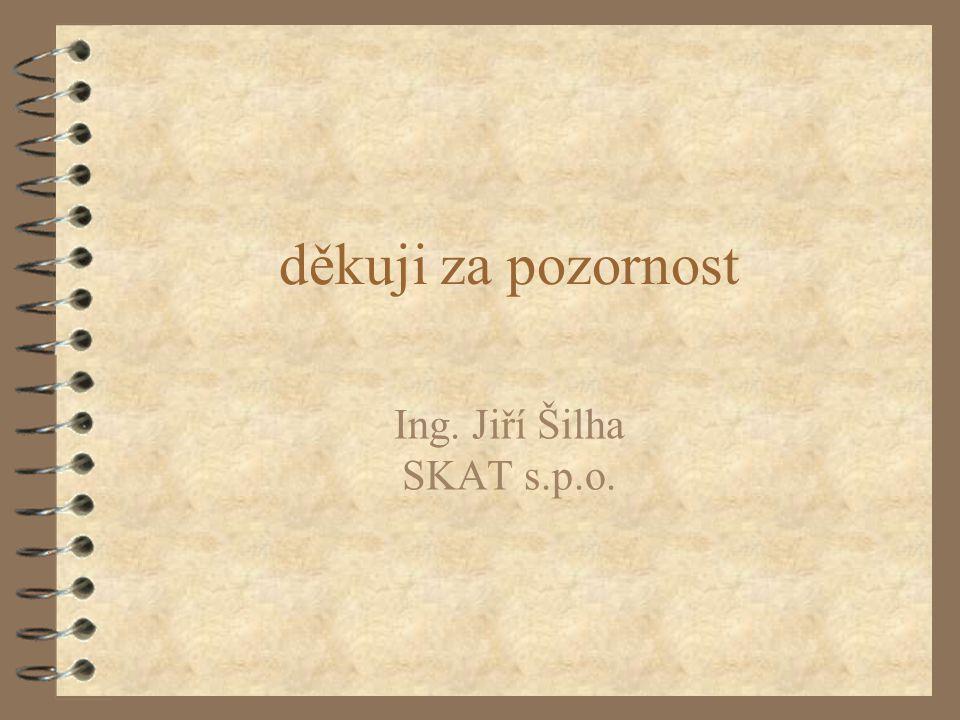 děkuji za pozornost Ing. Jiří Šilha SKAT s.p.o.