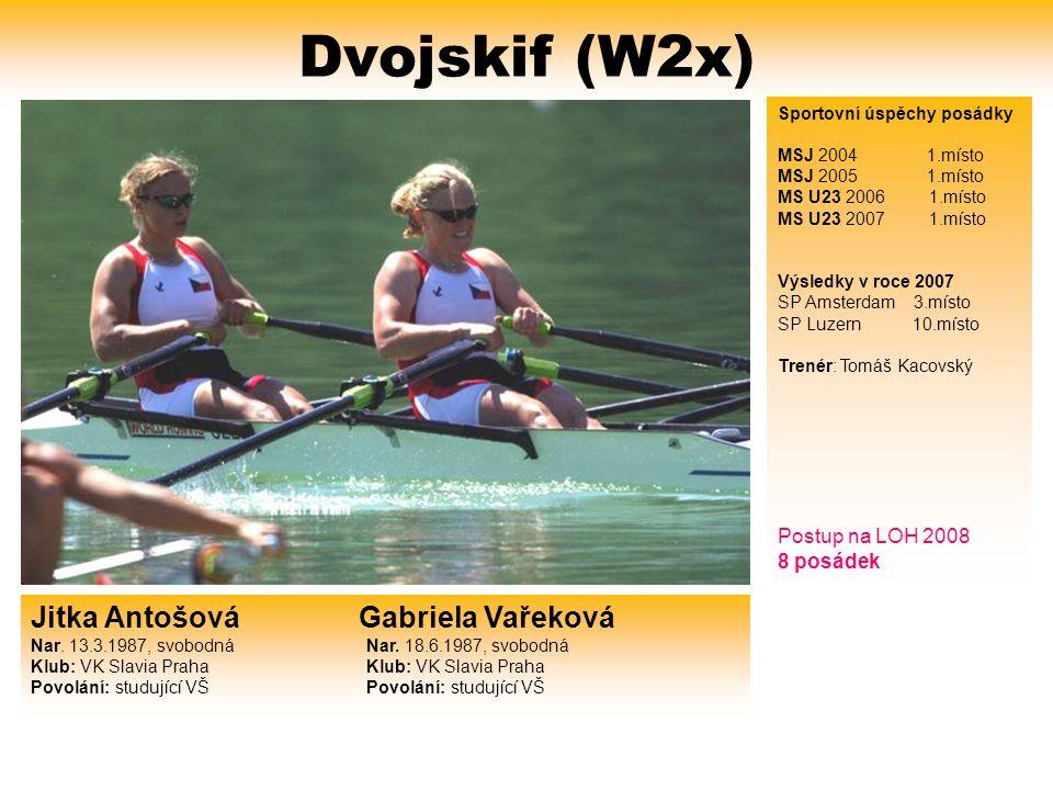 Dvojskif (W2x) Jitka Antošová Gabriela Vařeková Nar.
