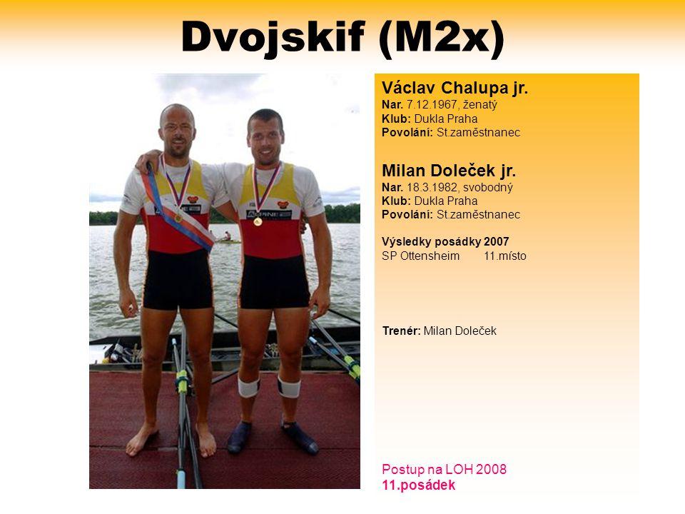 Dvojskif (M2x) Václav Chalupa jr.Nar.