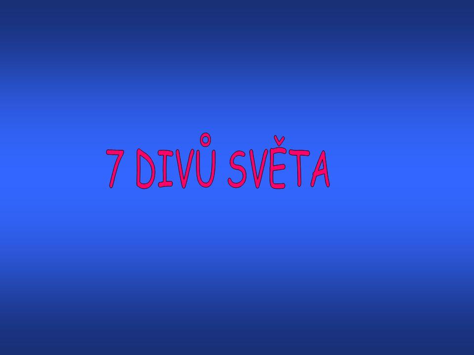 7 DIVŮ SVĚTA •Pyramidy v GízePyramidy v Gíze •Rhodský kolosRhodský kolos •Maják na ostrově FarosMaják na ostrově Faros •Feidiův Zeus v OlympiiFeidiův Zeus v Olympii •Mauzoleum v HalikarnássuMauzoleum v Halikarnássu •Artemidin chrám v EfesuArtemidin chrám v Efesu •Visuté zahrady SemiramidinyVisuté zahrady Semiramidiny SOUČASNÝCH 7 DIVŮ SVĚTA (fotogalerie) •Eiffelova věžEiffelova věž •Socha svobodySocha svobody •Socha Ježíše Krista v Rio de JaneiruSocha Ježíše Krista v Rio de Janeiru •Velká čínská zeďVelká čínská zeď •Vítězný oblouk v PařížiVítězný oblouk v Paříži •Římské koloseumŘímské koloseum •Tower BridgeTower Bridge Konec prezentace