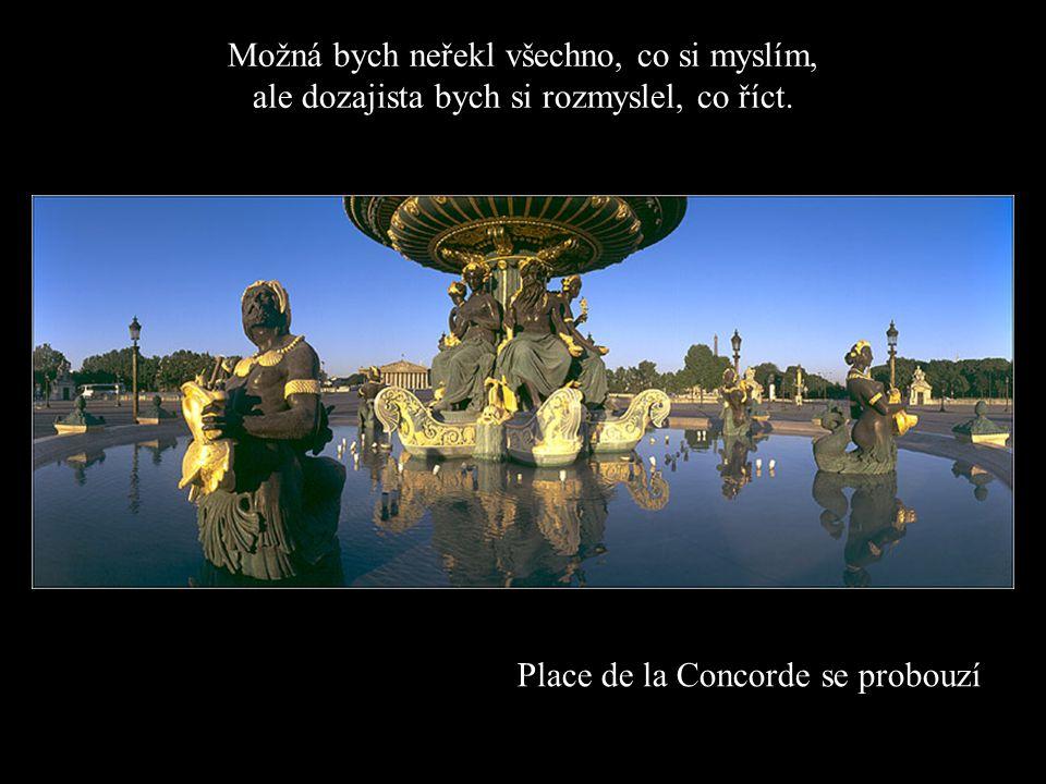 Place de la Concorde se probouzí Možná bych neřekl všechno, co si myslím, ale dozajista bych si rozmyslel, co říct.