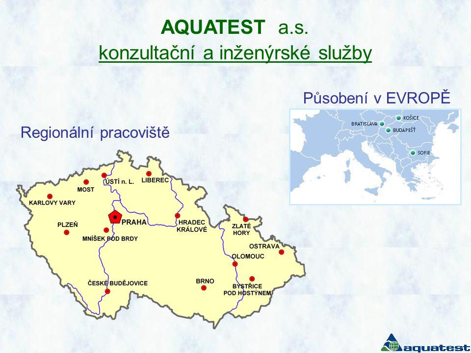 AQUATEST a.s. konzultační a inženýrské služby Regionální pracoviště Působení v EVROPĚ