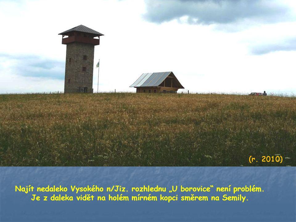 """Rozhledna """"U borovice"""" (Rozhledna postavená pro radost sobě i druhým) 669 m n.m. N 50° 39' 58.98"""