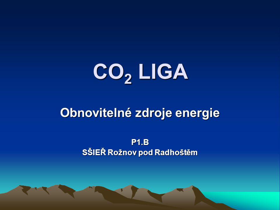 CO2 LIGA Obnovitelné zdroje energie P1.B SŠIEŘ Rožnov pod Radhoštěm