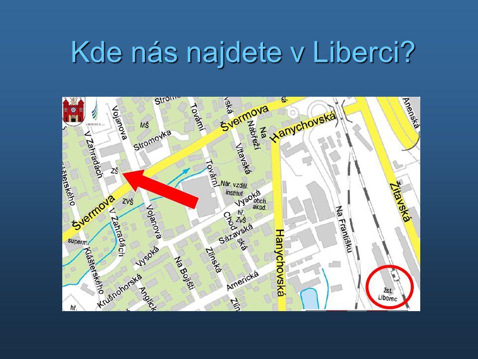 Kde nás najdete v Liberci?