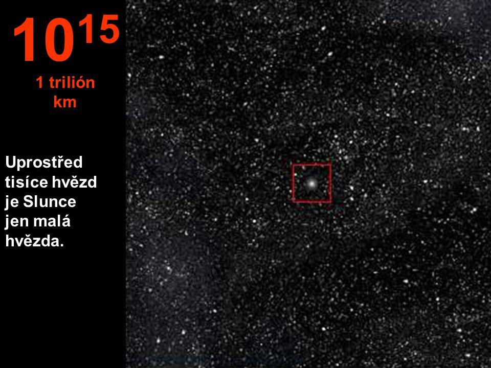 Uprostřed tisíce hvězd je Slunce jen malá hvězda. 10 15 1 trilión km