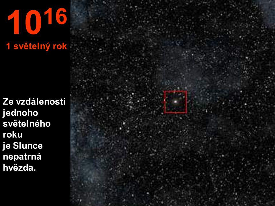 Ze vzdálenosti jednoho světelného roku je Slunce nepatrná hvězda. 10 16 1 světelný rok
