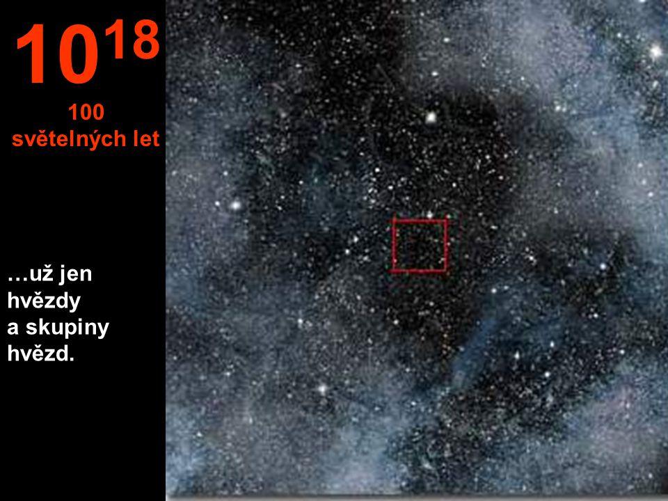 …už jen hvězdy a skupiny hvězd. 10 18 100 světelných let