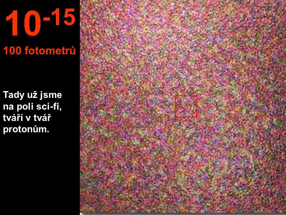 Tady už jsme na poli sci-fi, tváří v tvář protonům. 10 -15 100 fotometrů