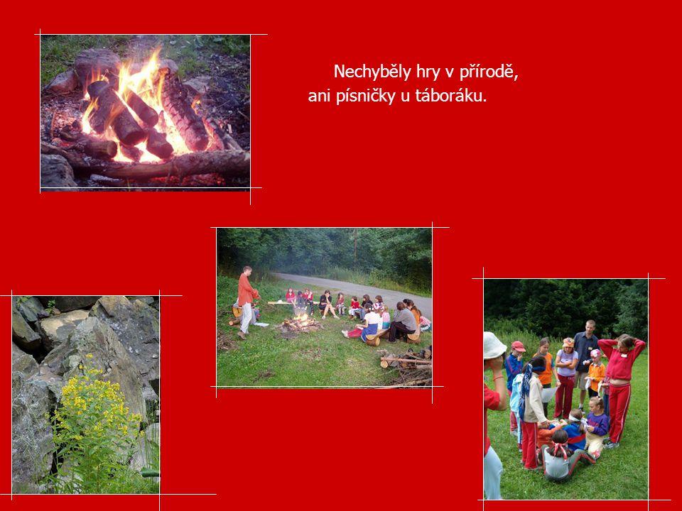Nechyběly hry v přírodě, ani písničky u táboráku.