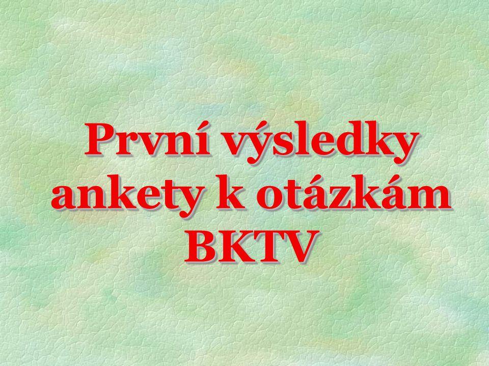 První výsledky ankety k otázkám BKTV