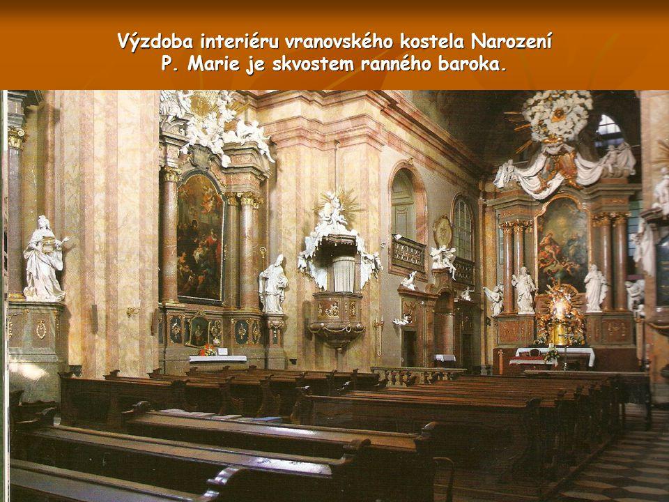Výstavba ranně barokního kostela na Vranově byla zahájena v r.