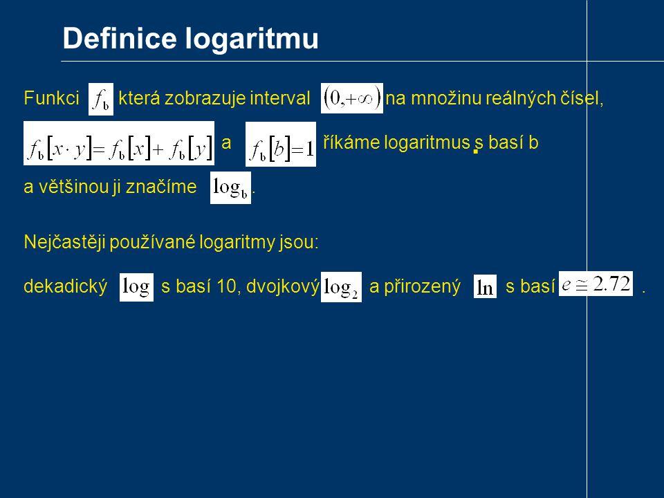 Definice logaritmu.