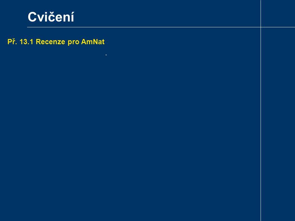 Cvičení Př. 13.1 Recenze pro AmNat.