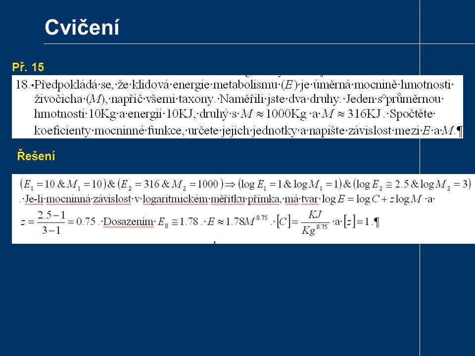 Cvičení Př. 15. Řešení Převeďte mocninu na mocninu Eulerova čísla.