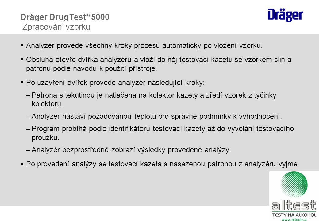  Analyzér provede všechny kroky procesu automaticky po vložení vzorku.