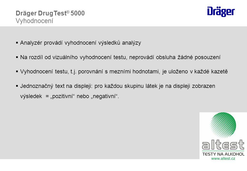  Analyzér provádí vyhodnocení výsledků analýzy  Na rozdíl od vizuálního vyhodnocení testu, neprovádí obsluha žádné posouzení  Vyhodnocení testu, t.j.