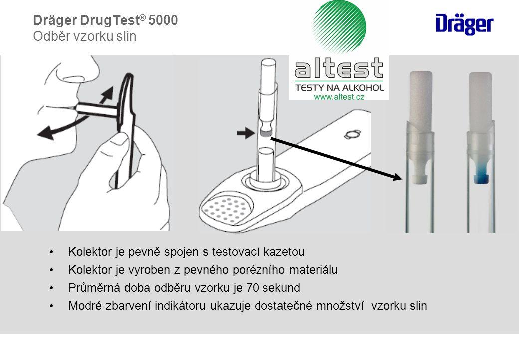  Kolektor je integrální součástí testovací kazety.
