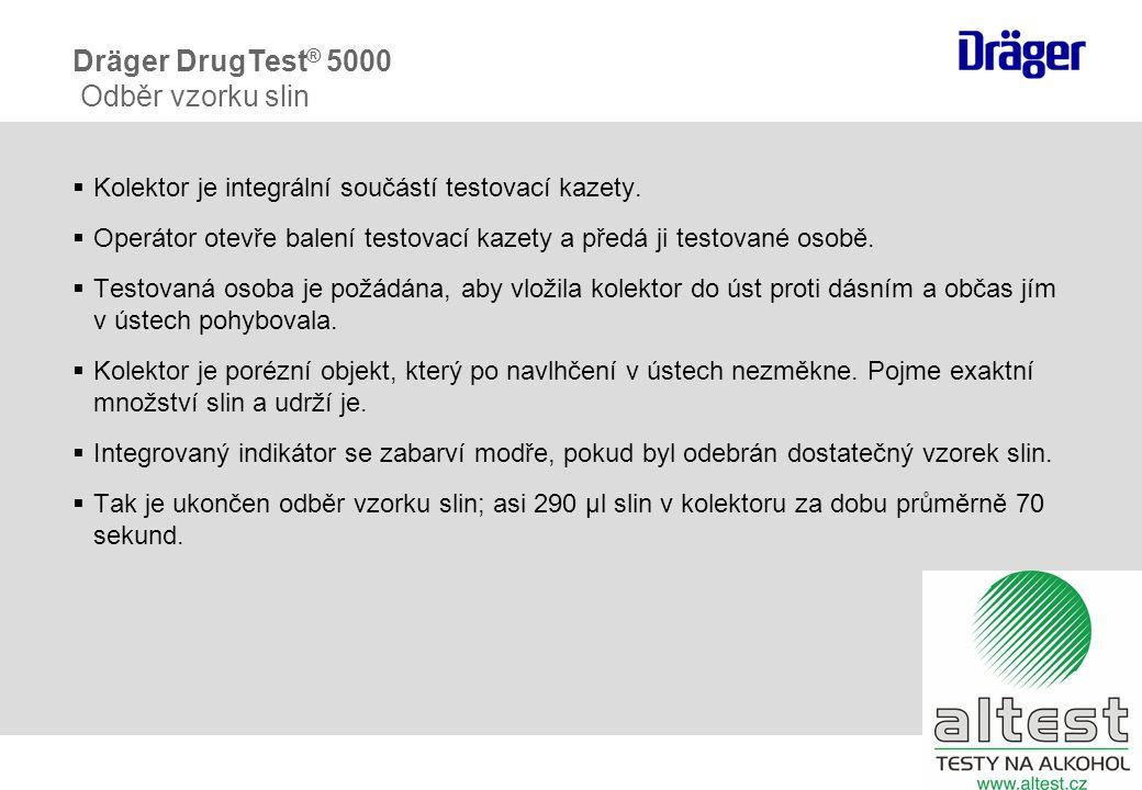 Dräger DrugTest ® 5000 Zpracování vzorku fáze 2: otevření patrony