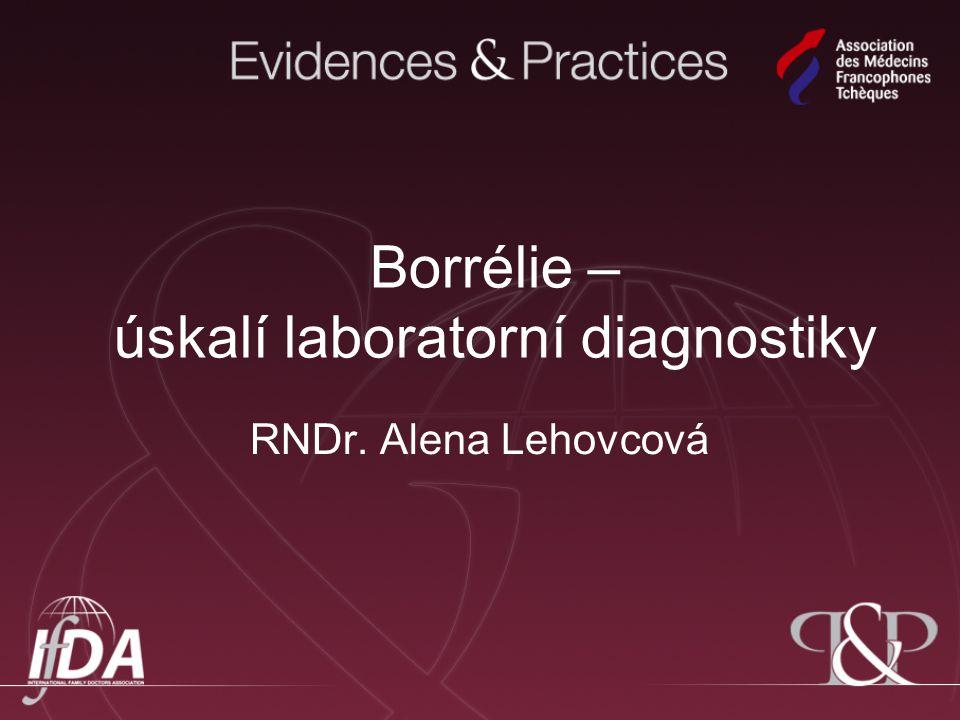 Borrélie – úskalí laboratorní diagnostiky RNDr. Alena Lehovcová
