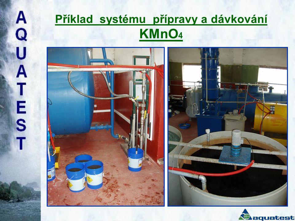 Příklad systému přípravy a dávkování KMnO 4 •Bezprašný, •fungující na princi