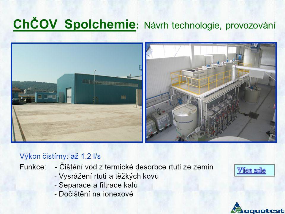 ChČOV Spolchemie : Návrh technologie, provozování