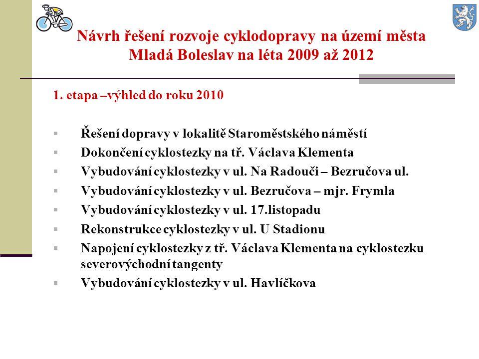 Návrh řešení rozvoje cyklodopravy na území města Mladá Boleslav na léta 2009 až 2012 1. etapa –výhled do roku 2010  Řešení dopravy v lokalitě Staromě