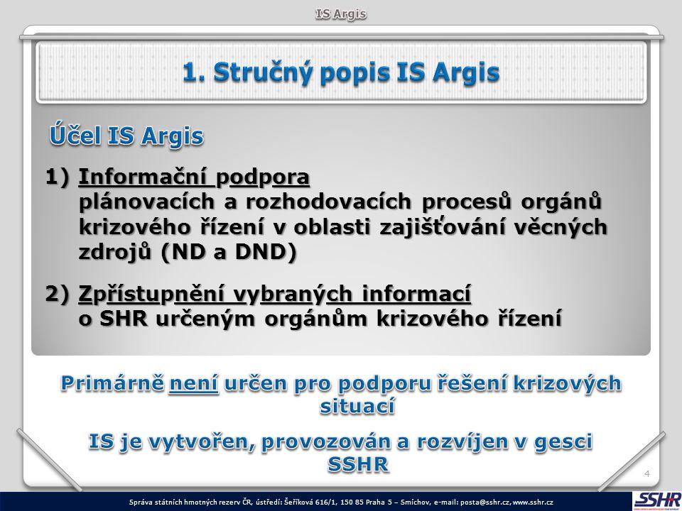 44 1)Informační podpora plánovacích a rozhodovacích procesů orgánů krizového řízení v oblasti zajišťování věcných zdrojů (ND a DND) 2)Zpřístupnění vyb