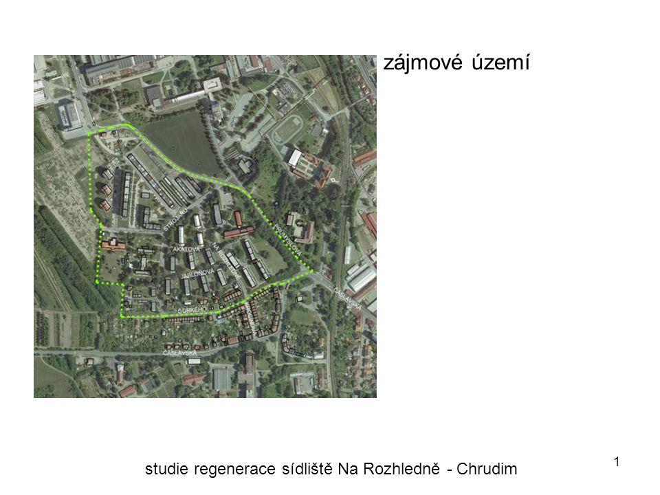 1 zájmové území studie regenerace sídliště Na Rozhledně - Chrudim