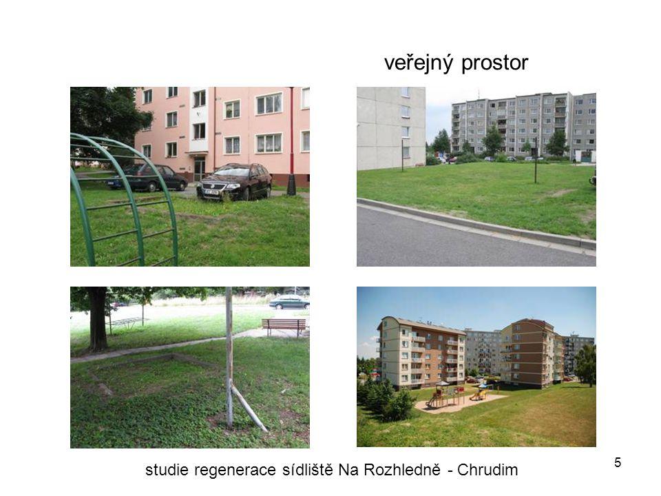 5 veřejný prostor studie regenerace sídliště Na Rozhledně - Chrudim