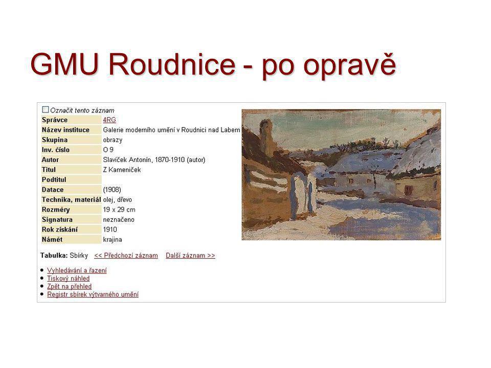 GMU Roudnice - po opravě