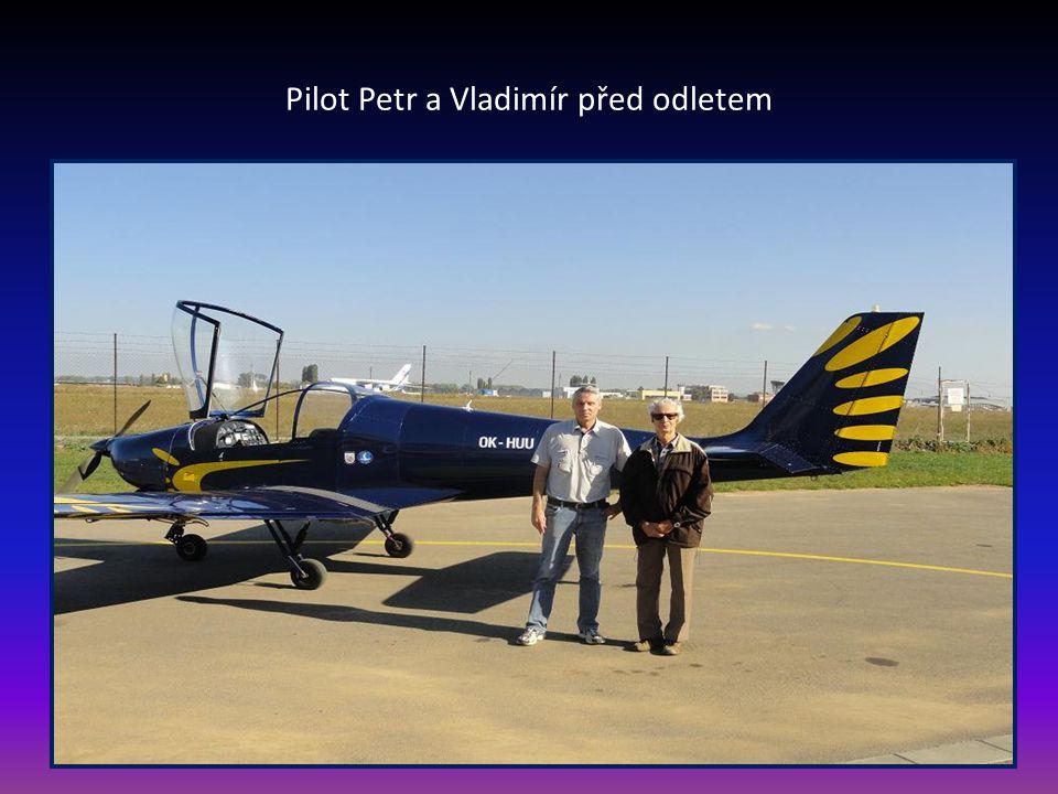 Pilot Petr a Vladimír před odletem