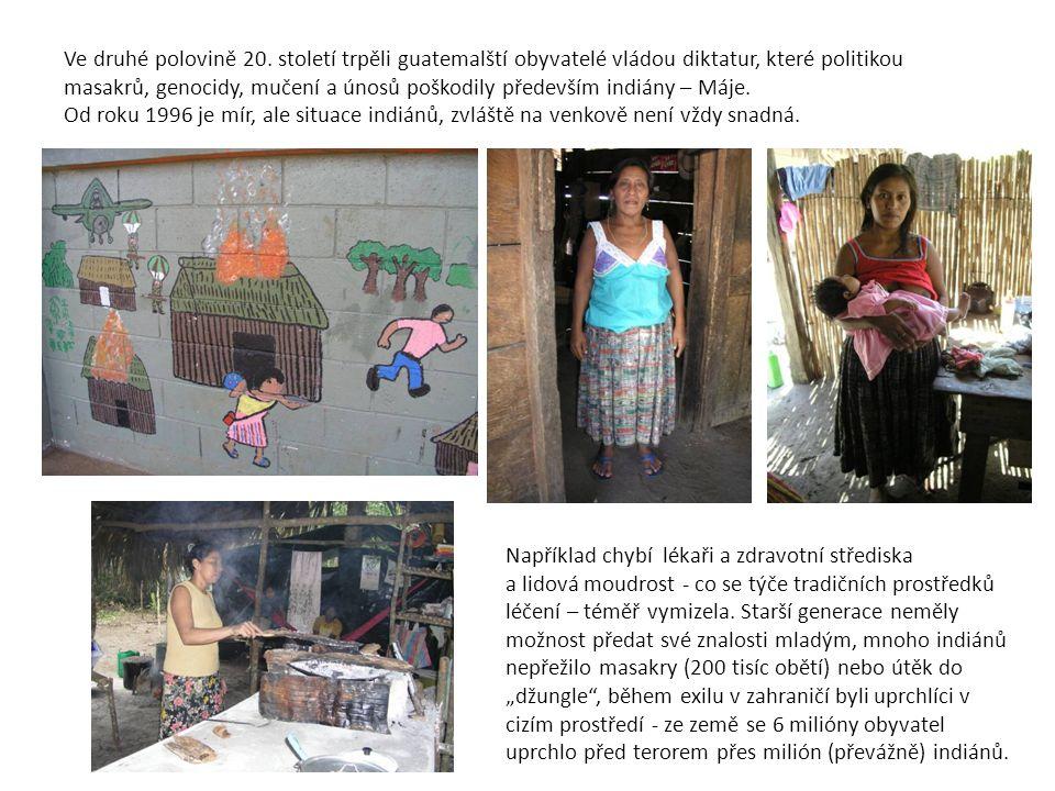 Ve druhé polovině 20. století trpěli guatemalští obyvatelé vládou diktatur, které politikou masakrů, genocidy, mučení a únosů poškodily především indi