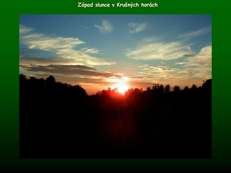 Západ slunce v Krušných horách