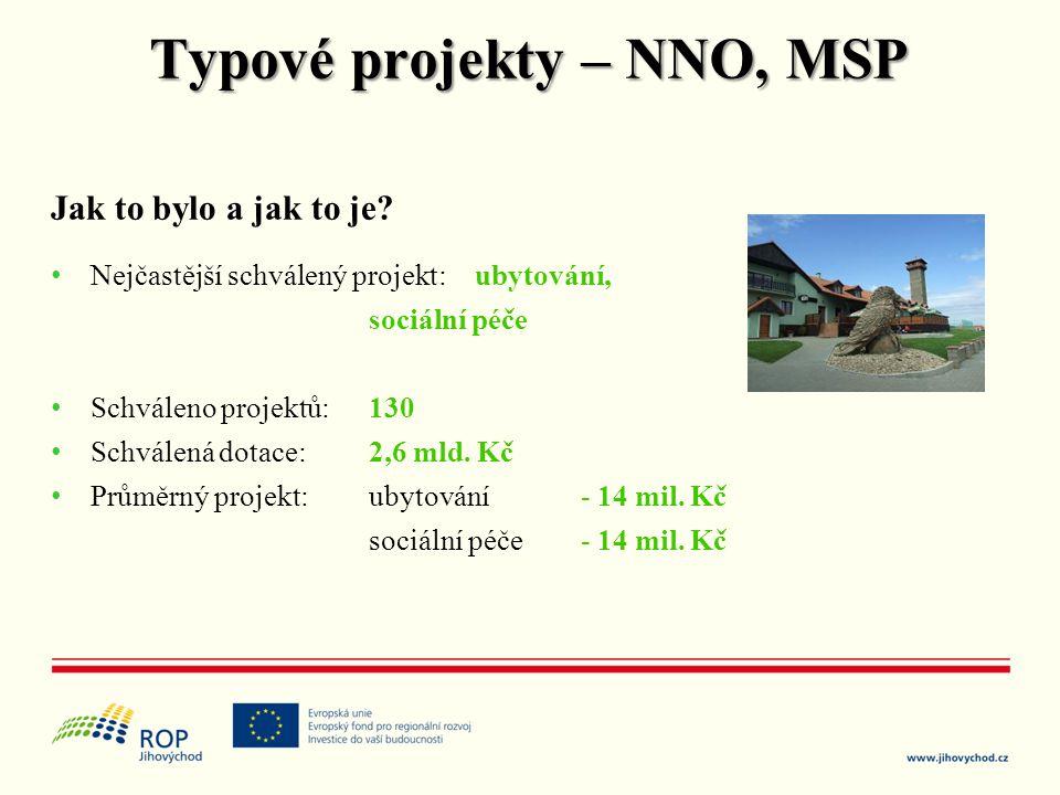 Jak to bylo a jak to je? • Nejčastější schválený projekt: ubytování, sociální péče • Schváleno projektů: 130 • Schválená dotace: 2,6 mld. Kč • Průměrn