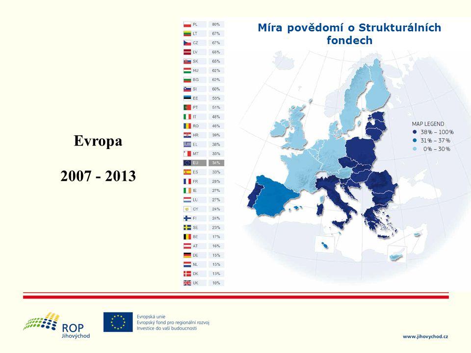 Míra povědomí o Strukturálních fondech Evropa 2007 - 2013