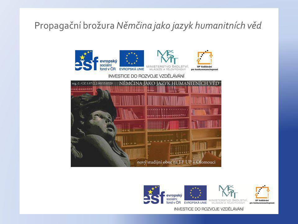 Propagační brožura Němčina jako jazyk humanitních věd
