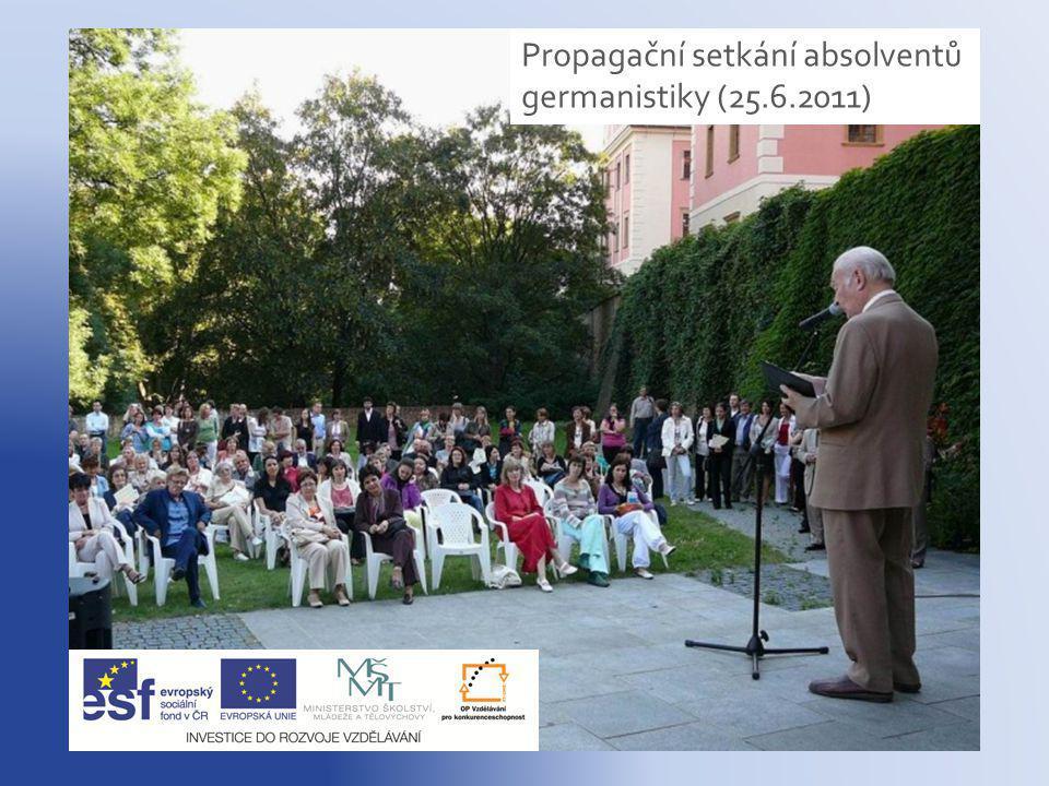 Propagační setkání absolventů germanistiky (25.6.2011)
